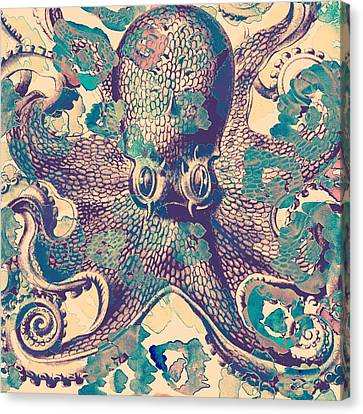 Nautical Octopus Canvas Print