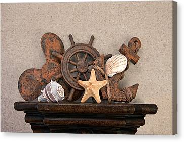 Shelf Canvas Print - Nautical Still Life IIi by Tom Mc Nemar