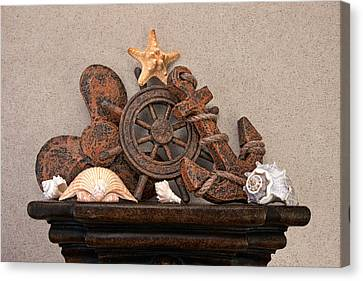 Nautical Still Life Iv Canvas Print by Tom Mc Nemar