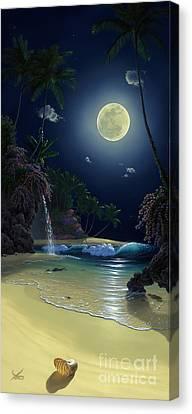 Nautilus Moon Canvas Print by Al Hogue