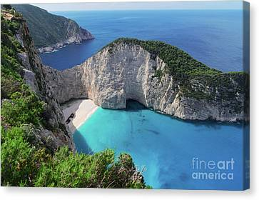 Navagio Beach Canvas Print
