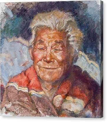 First Americans Canvas Print - Navaho Wisdom by Ellen Dreibelbis