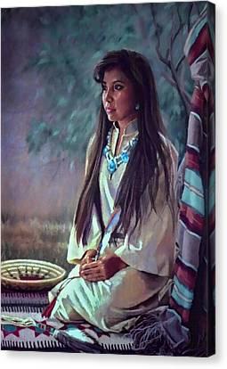 Navajo Beauty Canvas Print by Jean Hildebrant