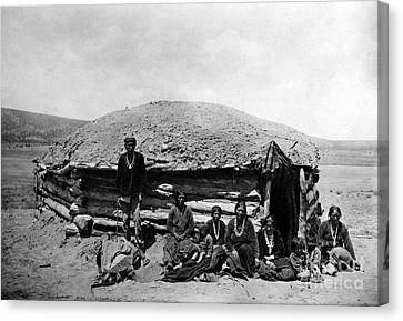 Navajo Dwelling, C1906 Canvas Print