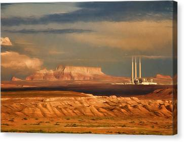Canvas Print featuring the photograph Navajo Generating Station by Lana Trussell