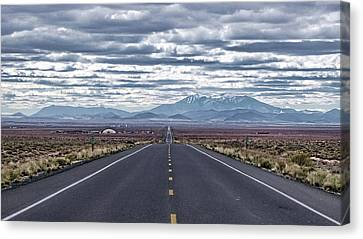 Navajo Route 15 Canvas Print by Charles Ables