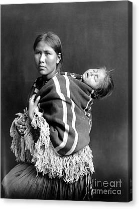 Navajo Woman & Child, C1914 Canvas Print by Granger
