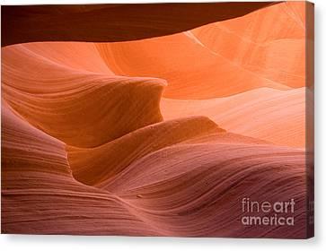 Navajos Lower Antelope Canyon Canvas Print by Julia Hiebaum