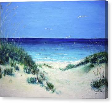 Navarre Beach Canvas Print - Navarre Sandunes1 by Tracy Crosby