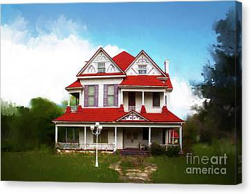 Canvas Print featuring the photograph Navasota 3 by Elena Nosyreva