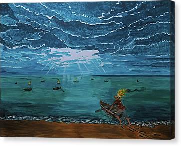 Navigate The Dreams Canvas Print by Lazaro Hurtado