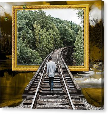 Train Canvas Print - Navigation by Marvin Blaine