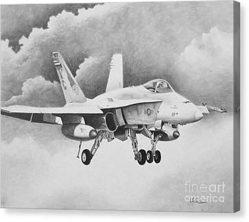 Navy Hornet Canvas Print by Stephen Roberson