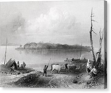 Navy Island Niagara River Ontario Canvas Print by Vintage Design Pics