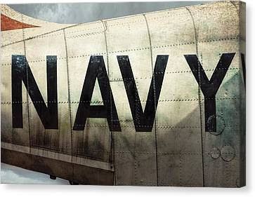 Canvas Print featuring the photograph Navy - Kaman K-16b Experimental Aircraft by Gary Heller