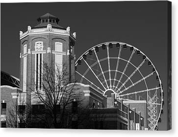 Navy Pier Gatehouse Chicago B W Canvas Print by Steve Gadomski