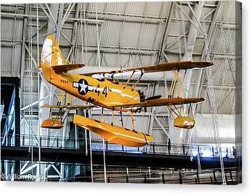 Version 1 Canvas Print - Navy Seaplane Nsn Flight Trainer  by William Rogers