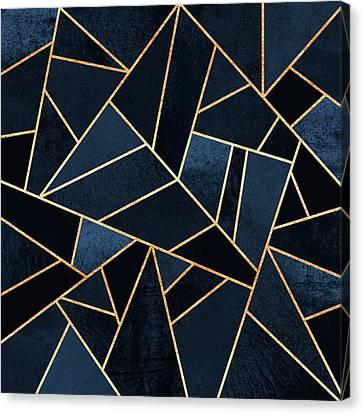 Navy Stone Canvas Print by Elisabeth Fredriksson