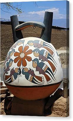 Canvas Print featuring the photograph Nazca Ceramics Peru by Aidan Moran