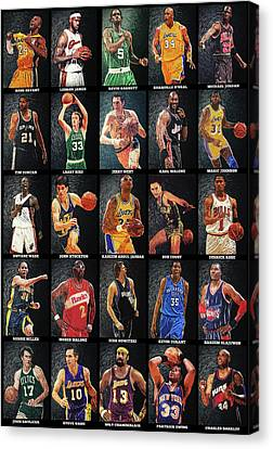 Johnson Canvas Print - Nba Legends by Taylan Apukovska