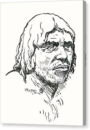 Neanderthal Or Neandertal Man. After Canvas Print