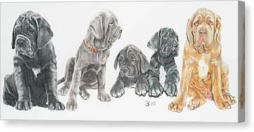 Working Dog Canvas Print - Neapolitan Mastiff Puppies by Barbara Keith