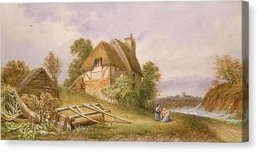 Near Christchurch Canvas Print by Miss Lorimer