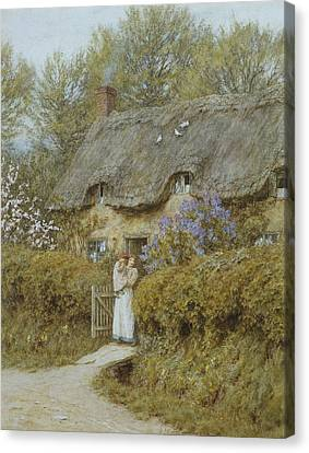 Near Freshwater Isle Of Wight Canvas Print by Helen Allingham