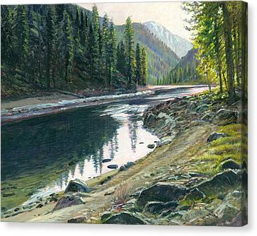 Near Horse Creek Canvas Print by Steve Spencer
