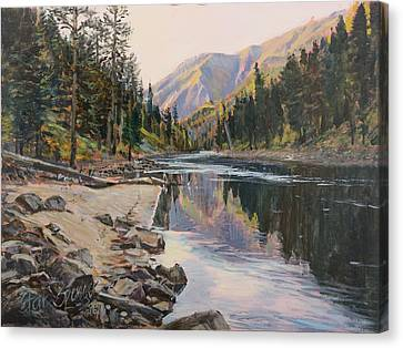 Canvas Print featuring the painting Near Smith Gulch by Steve Spencer