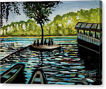 Near The Floating Restaurant Canvas Print
