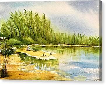Near The Lake 4 Canvas Print