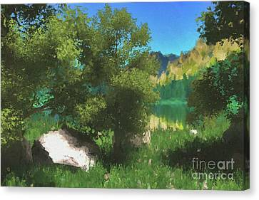 Near The Lake Canvas Print by Galambosi Tamas