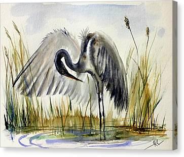 Near The Pond 3 Canvas Print