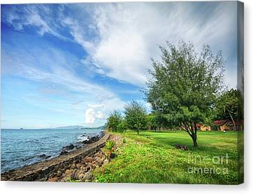 Canvas Print featuring the photograph Near The Shore by Charuhas Images