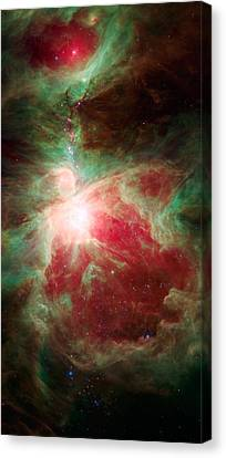 Near The Sword Of The Constellation Orion Canvas Print by American School
