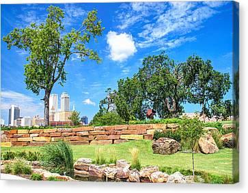 Near The Tulsa Skyline Canvas Print