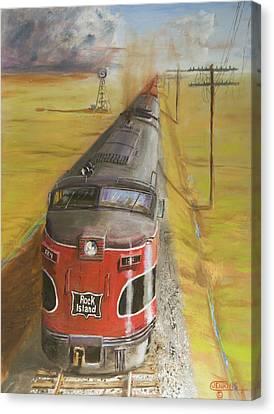Near Thistle  Ks Canvas Print by Christopher Jenkins