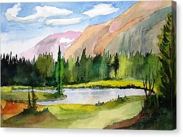 Near Two Medicine Montana Canvas Print by Larry Hamilton