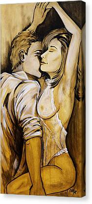 Nearly Naked Sepia Canvas Print by Debi Starr