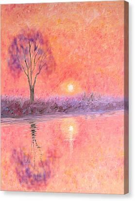 Canvas Print featuring the digital art Nearly Twilight by Elizabeth Lock