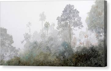 Nebbia Nella Foresta Canvas Print by Guido Borelli
