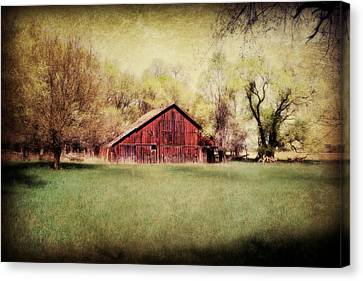 Nebraska Barn Canvas Print by Julie Hamilton