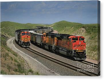 Nebraska Coal Trains Canvas Print