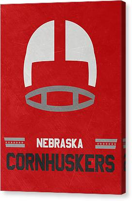 March Canvas Print - Nebraska Cornhuskers Vintage Art by Joe Hamilton