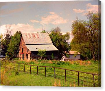 Canvas Print featuring the photograph Nebraska In The Summer Afternoon by Tyler Robbins