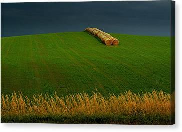 Canvas Print featuring the photograph Nebraska Rainy Day by Al Swasey
