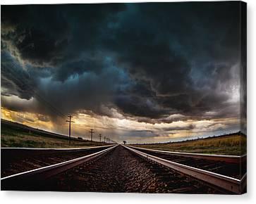 Nebraska Storm Hwy 30 Canvas Print