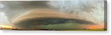 Nebraska Thunderstorm Eye Candy 020 Canvas Print