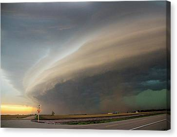 Nebraska Thunderstorm Eye Candy 026 Canvas Print